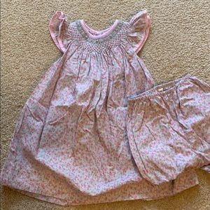 Petit Ami Flower Dress with bloomers